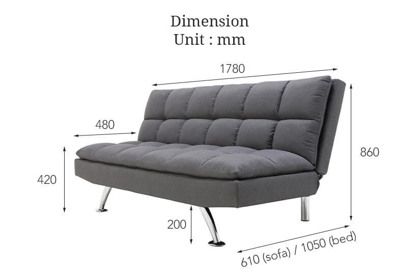 The dimensions of Lex Sofa Bed. Shop high quality living room furniture and sofa beds online in Singapore (SG).
