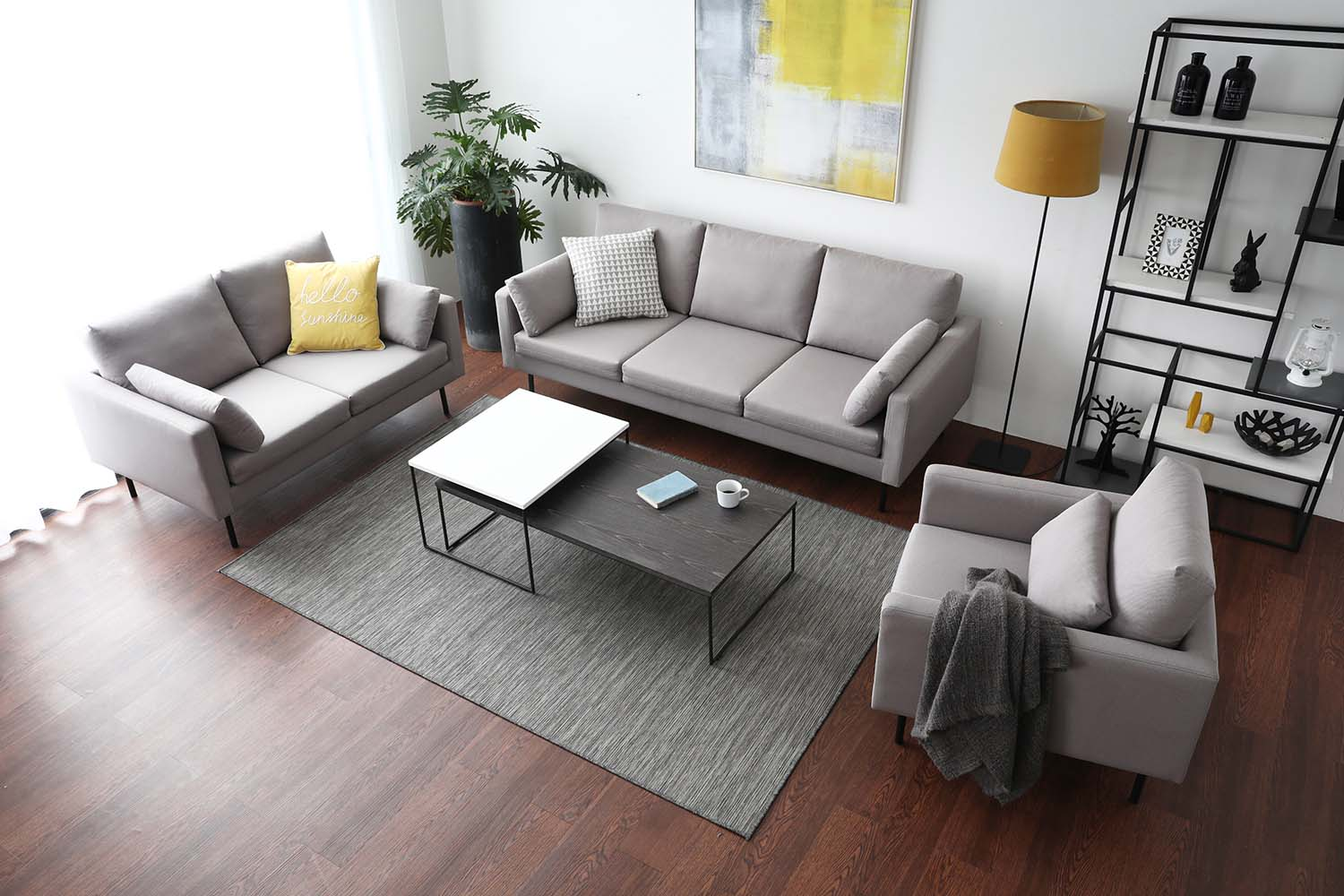 Comes in two calming shades of grey, the Luna Sofa collection is easy to match.