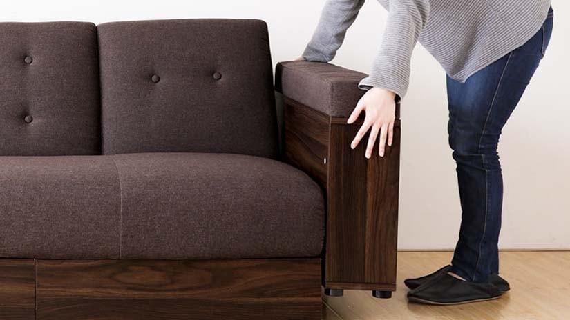 Detachable armrest.