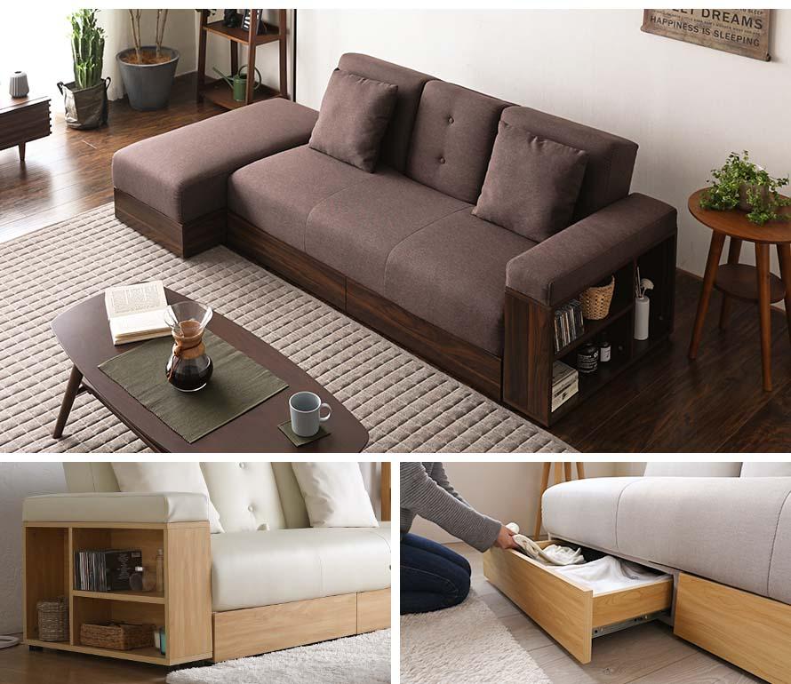 Massimo Multifunction Sofa With Storage Bedandbasics Sg