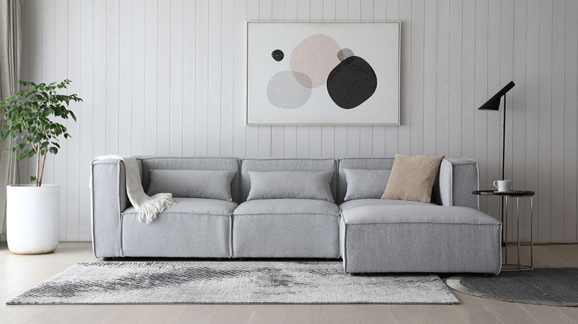 Calm and collected. Light Grey upholstery creates a down-to-earth atmosphere to your space.