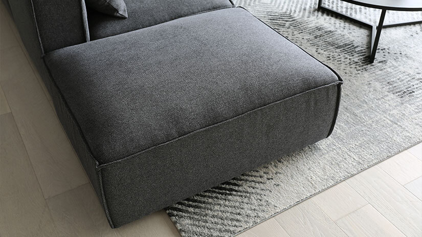 Use the ottoman as a leg rest when you lounge alone, or as an extra seat when you have guests over.