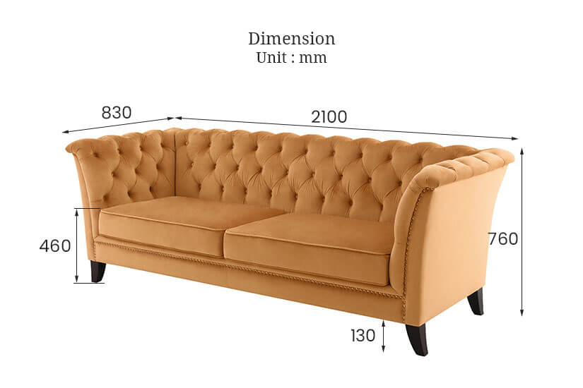 The dimensions of the Neil Sofa. Buy sofas and living room furniture online in Singapore (SG) today.