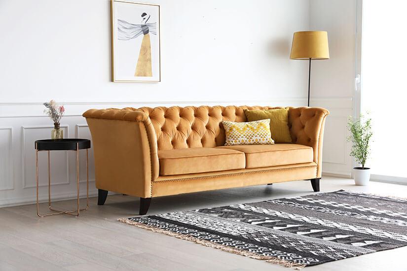 Almond Velvet Upholstery.