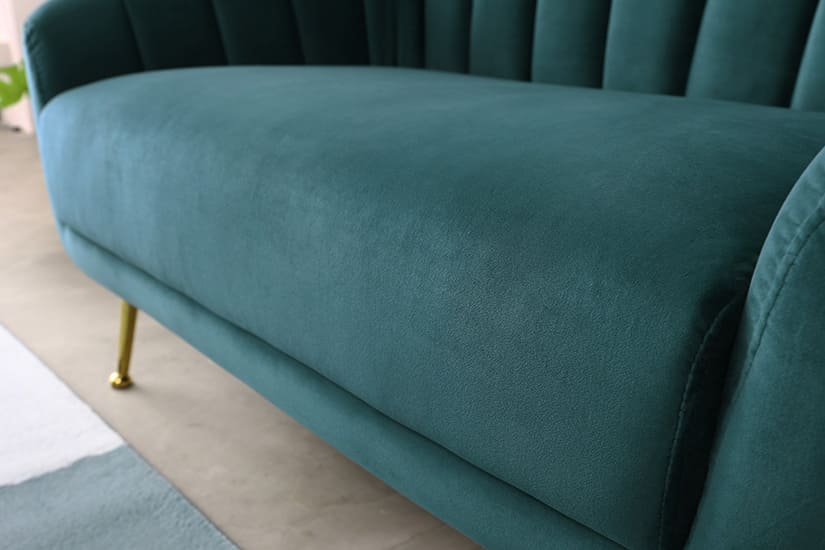 Comfortable and cosy. Seats of moderate firmness. A great sofa to unwind on after a long day.