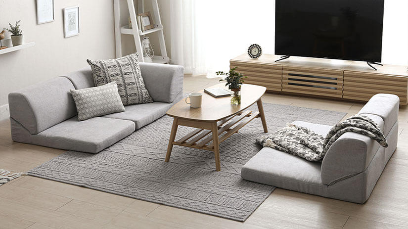 Calm and collected. Mist Grey upholstery creates a down-to-earth atmosphere to your space.