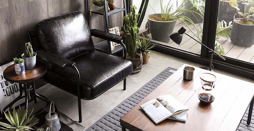 Chill on the black sanctum vintage leather armchair
