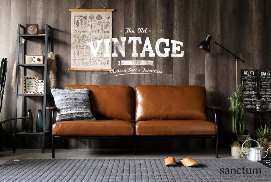 Introducing the sanctum 3 seater vintage leather sofa.