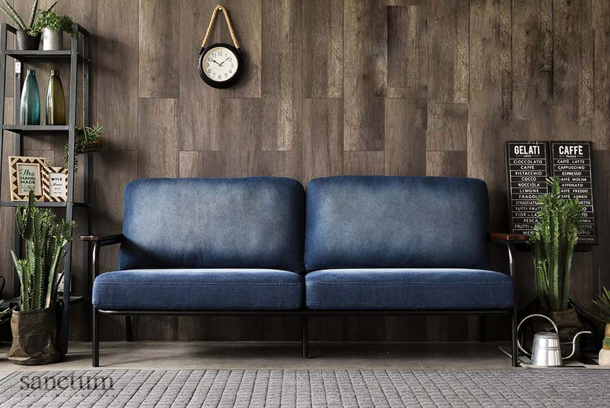 The Sanctum Denim 3 Seater Sofa.
