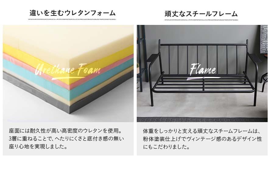 high density urethane foam, solid steel powder coated frame