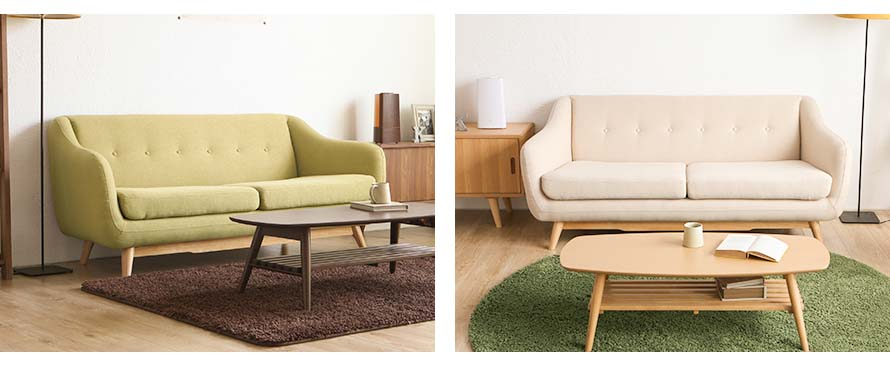 Green and beige Usagi Sofa