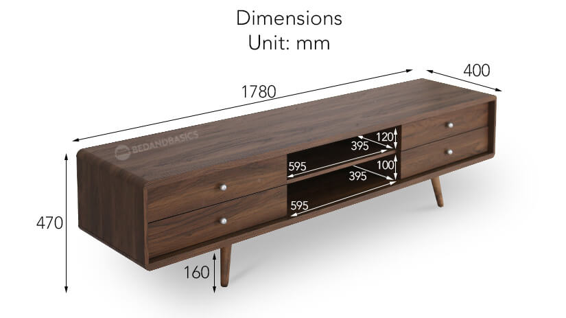 Aaron TV Console Dimensions