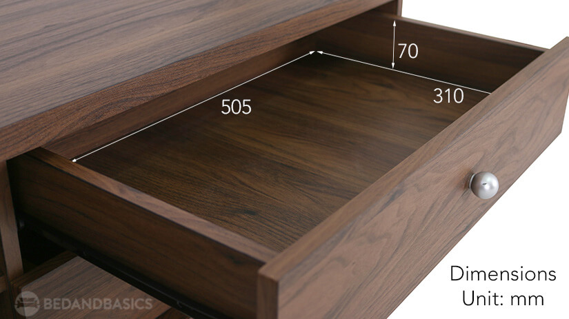 Aaron TV Console Drawer Dimensions