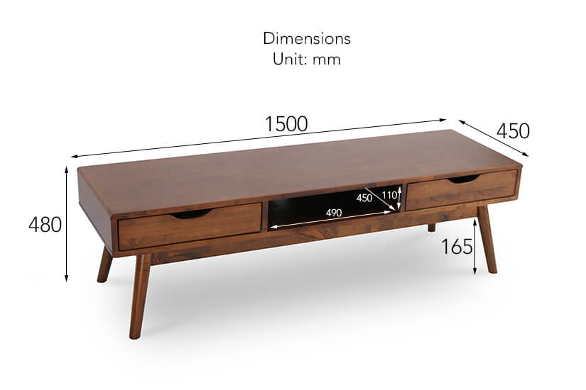 Grant Banks TV Console Dimensions