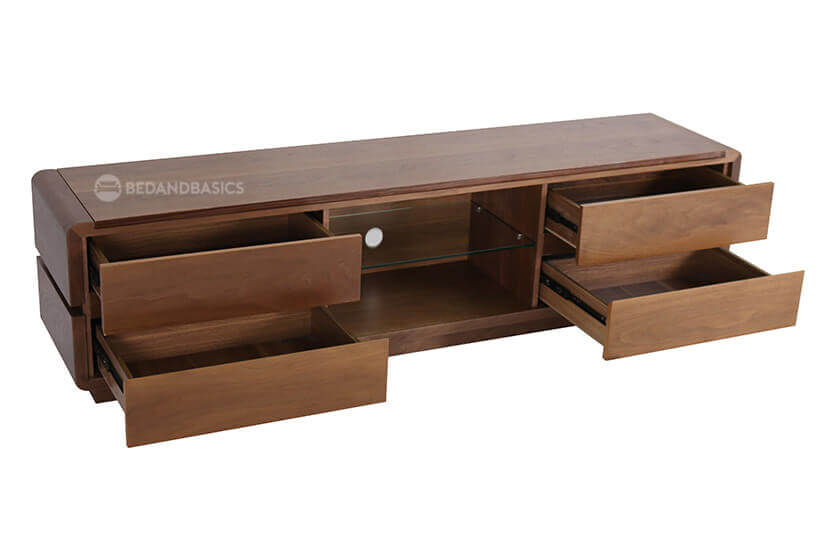Four pull-out drawers for more storage.