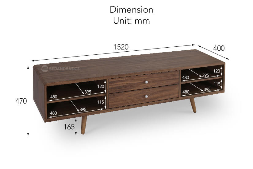 Levin TV Stand dimensions