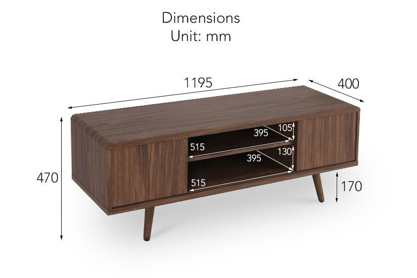 Rukia TV Console dimensions.