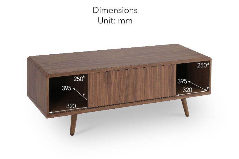 Rukia TV Console drawer dimensions.