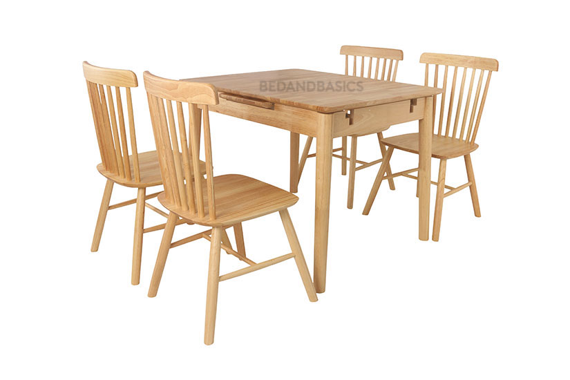 Hina Extension Solid Wood Dining Set, Wood You Furniture