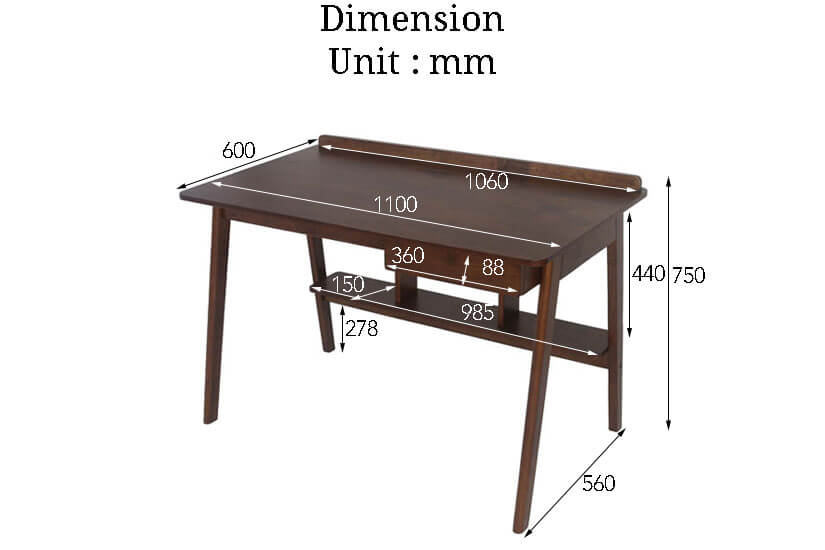 The Dimensions of the Nandi Study Table. Buy online the finest collection of study room and office furniture in SG.