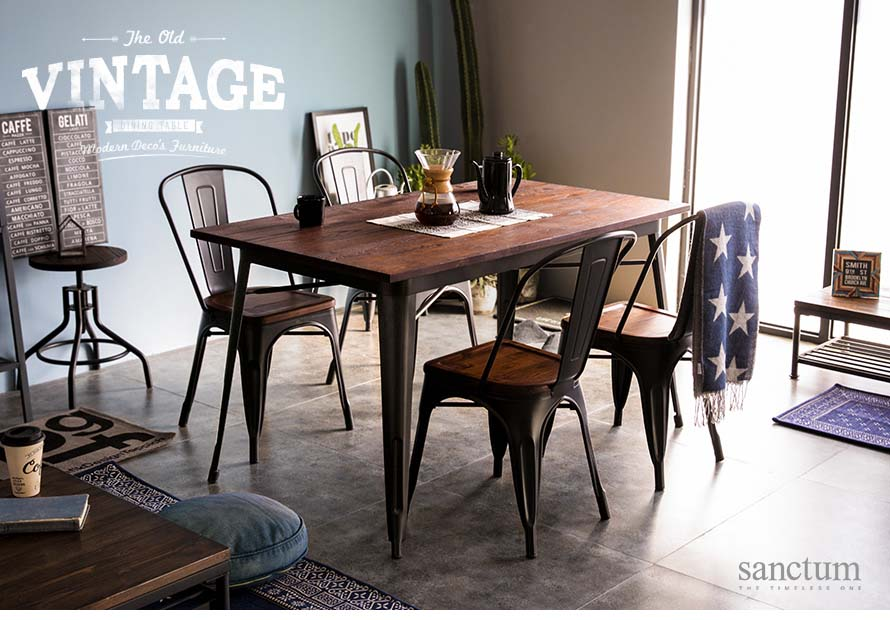 Behold the sanctum vintage dining table for 4 seater