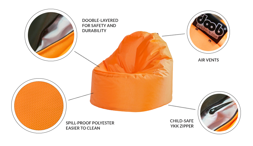 Oomph Mini Spill Proof Kids Bean Bag Home Decor