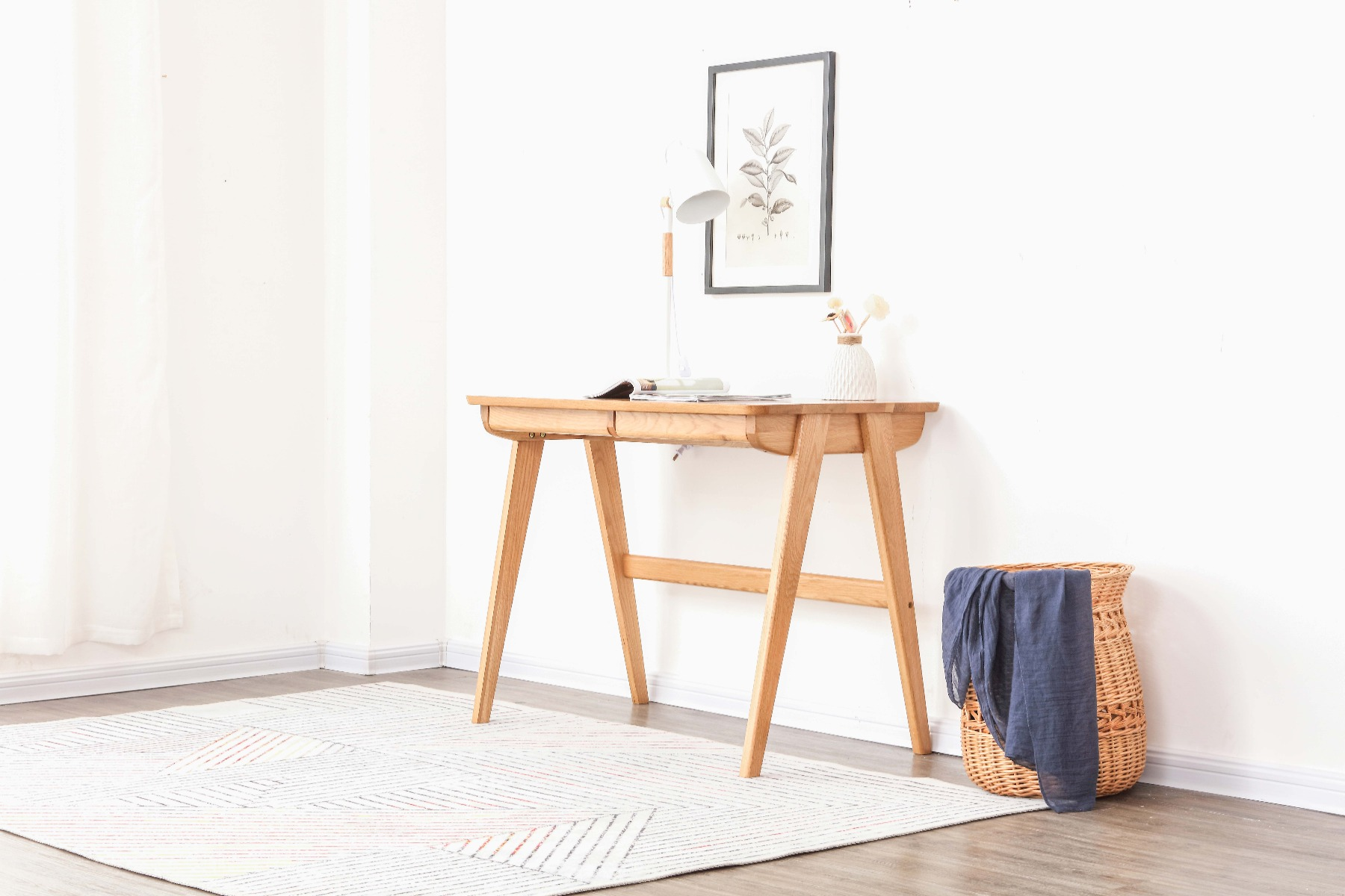 The Nara Study Table is designed to be clean, light and natural. The perfect study table for the modern minimalist.