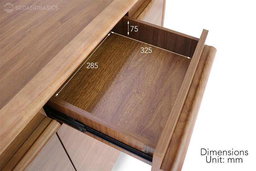 Darlene Shoe Cabinet pull-out drawer dimensions.