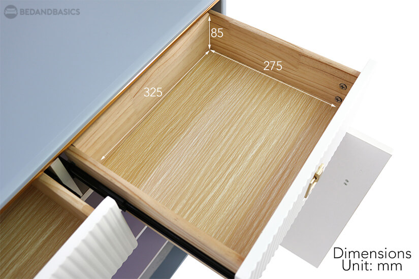 Edolie Shoe Cabinet pullout drawer dimensions.