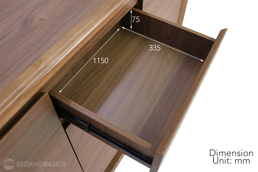 Gideon Shoe Cabinet pull-out drawer dimensions.