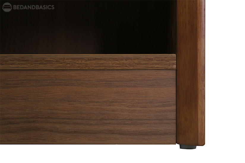 Plastics glides on the base prevents the shoe cabinet from scratching the floor.
