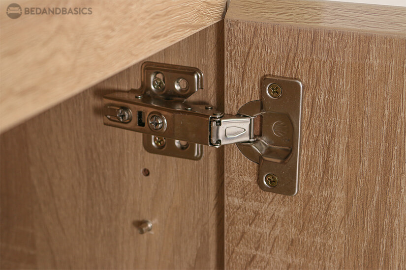 Secured with soft closing metal hinges.
