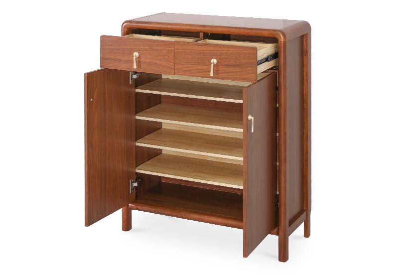Built-in drawers and adjustable shelves to keep your footwear organised.