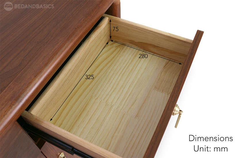 The pull-out drawer dimensions of the Osbourne Shoe Cabinet for living room furniture in Singapore (SG).