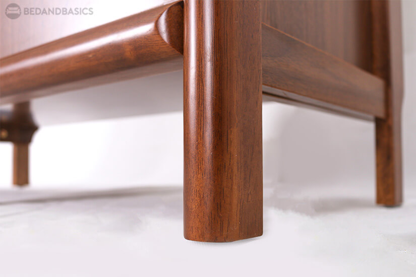 Weight of the cabinet is supported by strong wooden legs.