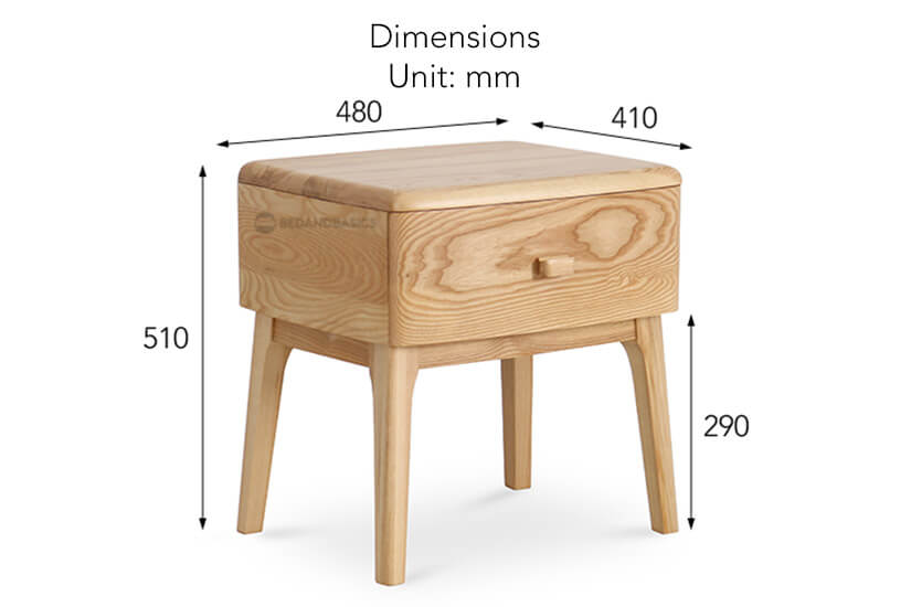 The overall dimensions of the Caoimhe side table.