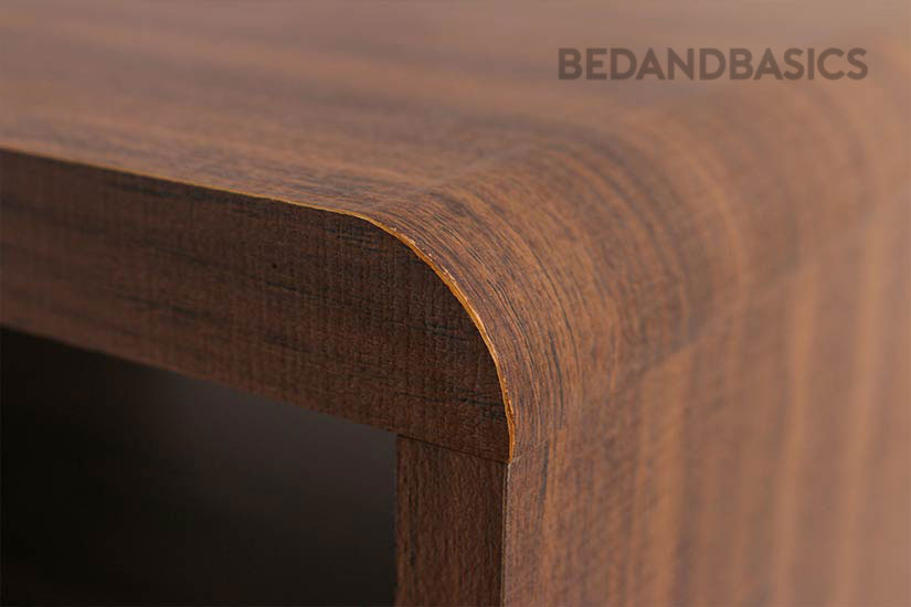 Designed with a slight curvature to add a touch of roundedness to the design.