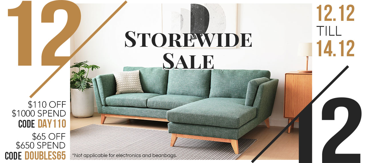 12.12 Storewide Furniture Sale Now On