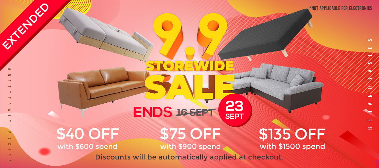 9.9 Storewide Sale Extended 23 Sept
