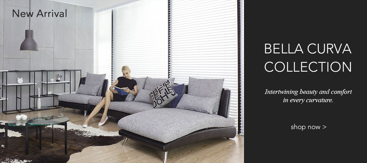 The new Bella Curva sofa collection. Intertwining beauty and comfort in every curvature.