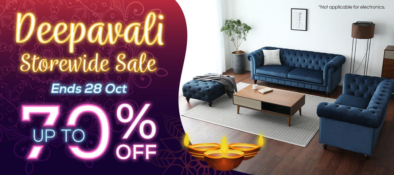 Deepavali Storewide Sale. Up to 70% Off.
