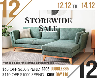 12.12 Storewide Furniture Sale Now On.