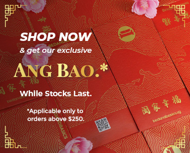 Shop now and get our exclusive ang bao for orders above $250