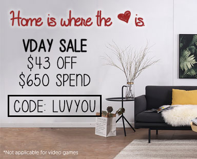 Valentine Sale. $43 off $650 Spend.