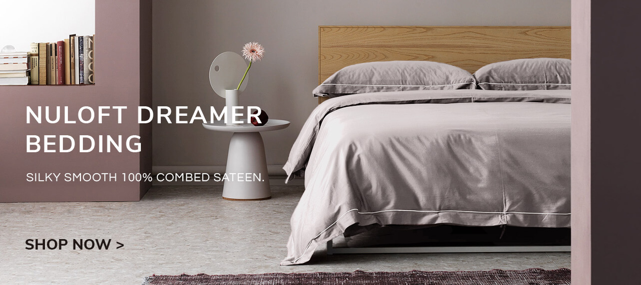 Nuloft Dreamer Bedding, silky smooth 100% combed sateen