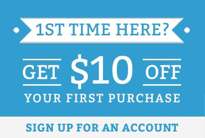 Get $10 off your first purchase when you sign up for an account
