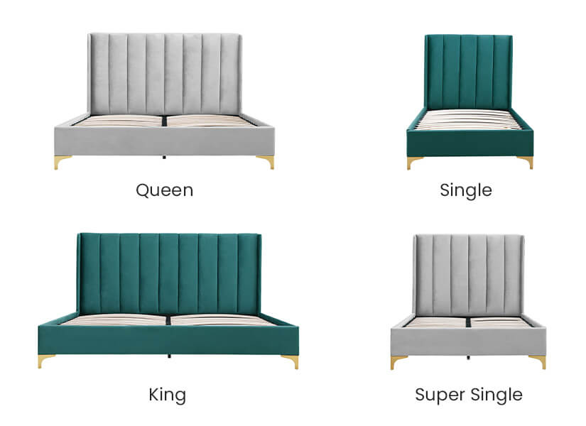 Available in 4 sizes – Single, Super Single, Queen and King.