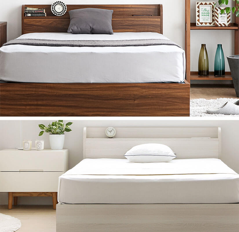 Made of MDF wood with melamine laminates, the bed frame has an excellent ability to resist water, heat and abrasion.