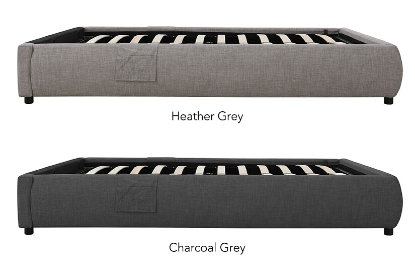 Available in 4 sizes and 2 versatile colours: Heather Grey and Charcoal Grey.