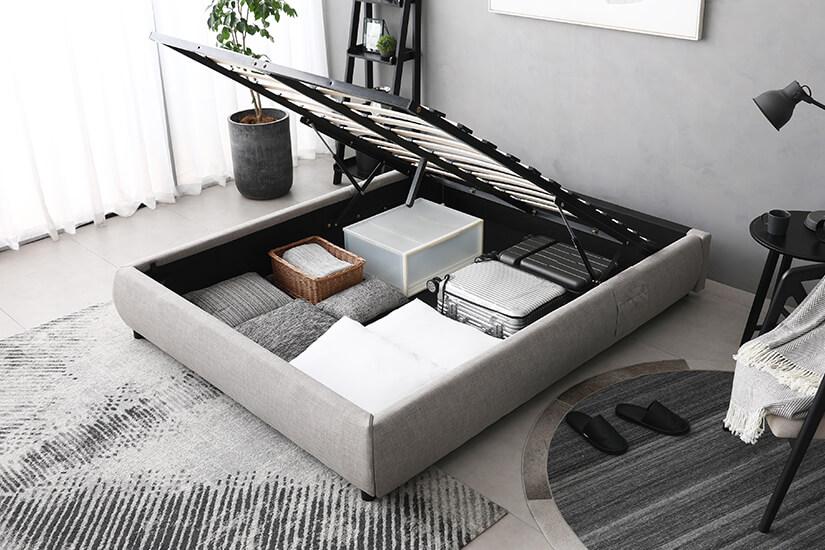 Open floor base allows easy to maintain storage.